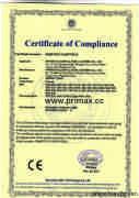 CE Certificate  for Sodium Vapour Light