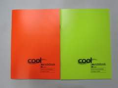 A4 cool colour PP cover notebook college ruled