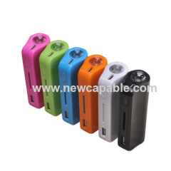 2,200mAh power bank with LED flashlight
