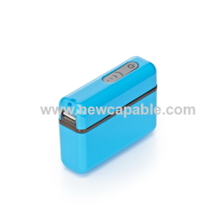 4400mAh power bank with LED flashlight and capacity indicators