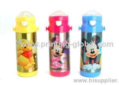 Children Drinking Bottle With Disney Design Heat Transfer Sticker
