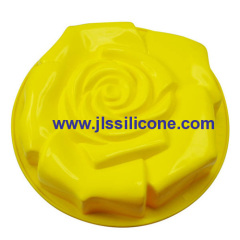 big rose silicone bakeware molds baking pan