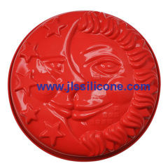 face shaped silicone bakeware moulds