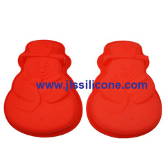 Christmas snowman silicone bakeware moulds in big size