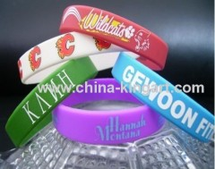 100% environmental promotional silicone bracelet