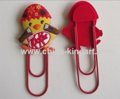 Promotional pvc bookmark clip