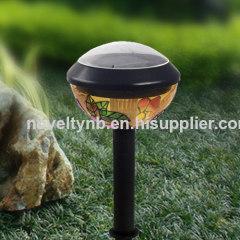Plastic solar oval light
