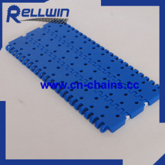 900 perforated flat top plastic modular conveyor belt