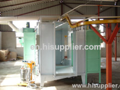 easy operate powder coat paint booth