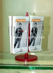 Red and clear revolving stable acrylic display rack
