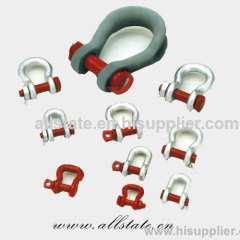 Drop Forged square head trawling shackle