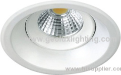 Turnable round LED COB downlight