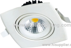 8W movable LED COB Downlight