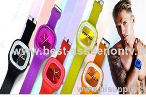sports brand silicone watch jelly watch 12 colors