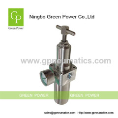 High pressure stainless steel filter regulator
