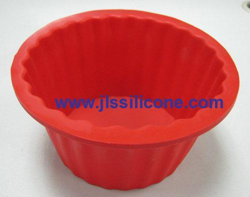 large cupcake shape silicone bakeware moulds