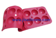 8 cavity semisphere cake and candy silicone bakewaremoulds