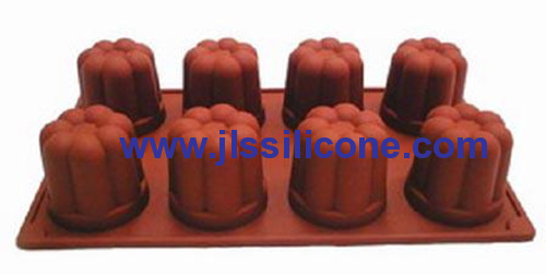 8 cavity bavarese silicone bakeware moulds