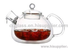 Heat Resistant Double Wall Glass Tea Pot Coffee Pot With Mouth Blown Craftsmanship