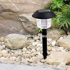 solar plastic garden light