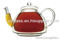 Double Wall Insulated Glass Tea Pot Coffee Pot