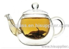 Pyrex Double Wall Borosilicate Glass Tea Pot Coffee Pot