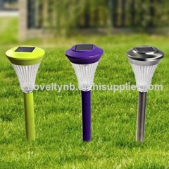 solar plastic lawn garden light