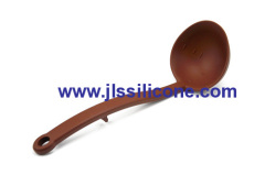 10.6inch coffee kitchen scoop and spoon silicone ladle with stand