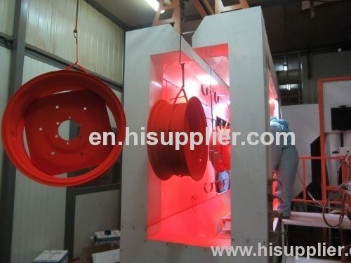 highest power recovery and fast colour change powder coating booth for sale