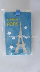 customed soft pvc luggage tag