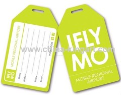custom logo pvc luggage tag