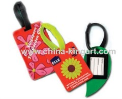 mini soft pvc luggage tag