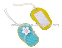 plastic luggage tag with loop strap
