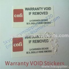Warranty VOID If Seal Broken Labels