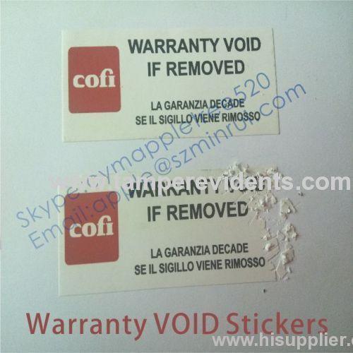 Warranty VOID If Seal Broken Labels