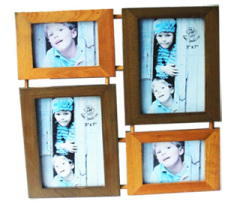 4 Photos Wood Picture Frame