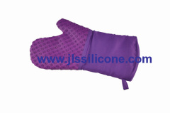 silicone and pattern silicone glove mitt and heat resistant pot holders