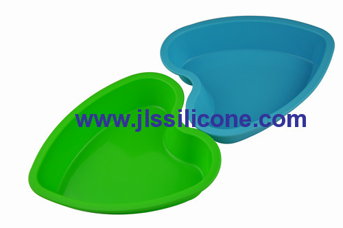big heart silicong bakeware moulds