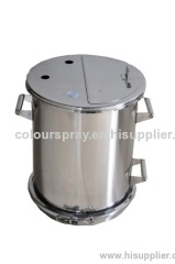 hopper for powder coating