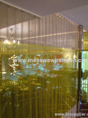 metal wire mesh as curtains