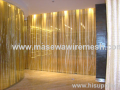 metallic cloth as decorative divider
