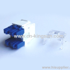 Leviton type cat. 6 180degree RJ45 Keystone Jack