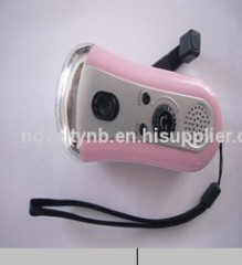 LED flashlight torch with radio