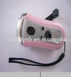 LED flashlight torch with radio