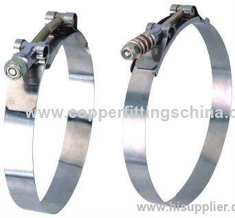 Standard T Type Heavy Duty Stainless steel Hose Clamp