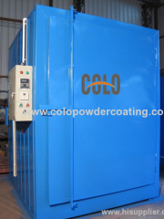Fast heating powder coat oven