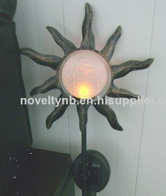 Solar wrought iron light