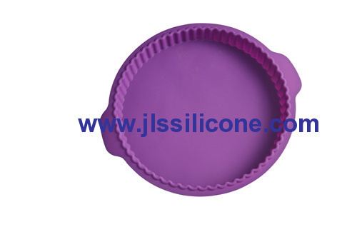 7 inch big round wave silicone bakeware moulds pie bake tray