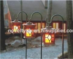 garden wooden solar lantern