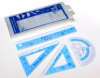 Kids Plastic Rulers Printing Heat Transfer Sheet Hot Stamping Sticker
